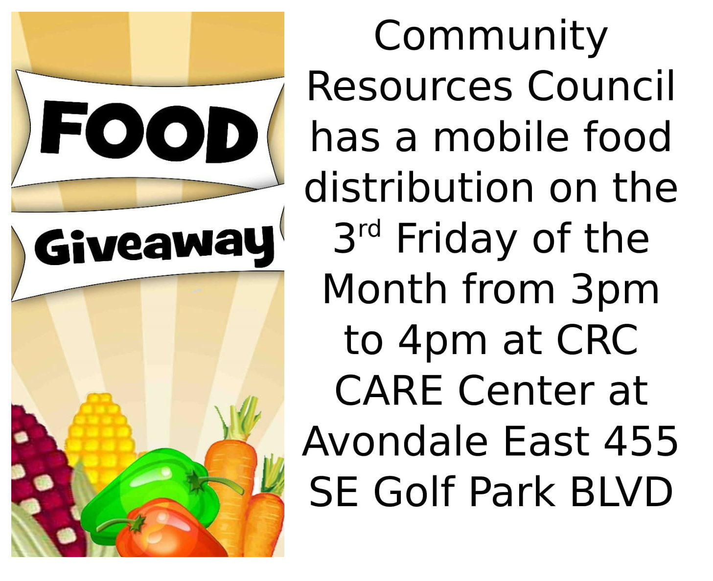 Community Resources Council - Mobile Food Pantry