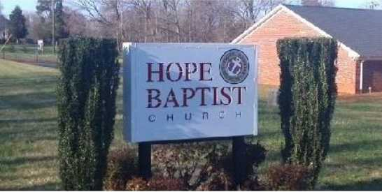 Hope Baptist Church of NC Food Pantry