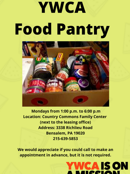 Food Distribution Center - YWCA Country Commons